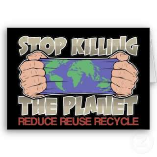Stop Killing the Planet Cards from Zazzle
