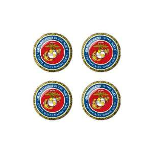 United States Marine Corps Symbol   Wheel Center Cap 3D Domed Set of 4