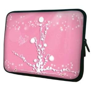 13 inch Winter White Decoration / Pink Notebook Laptop