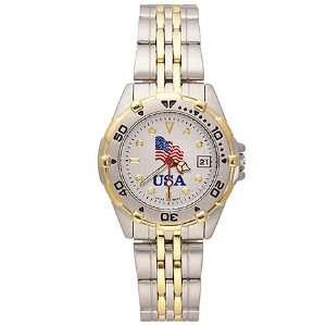 Usa Flag All Star Stainless Ladys Watch Logoart