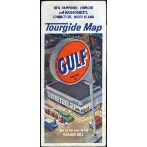 Vintage Gulf Oil Tourgide Road Map of New Hampshire, Massachusetts