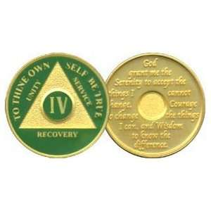 4 Year 24K Gold Plated AA Birthday   Anniversary Recovery