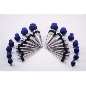 Taper/Plug Kit   Includes 18 Pc Stainless Steel Ear Tapers 14G