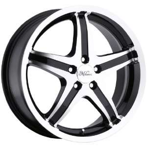 16x7 Milanni Kool Whip 5 5x110 +40mm Black Machined Wheels
