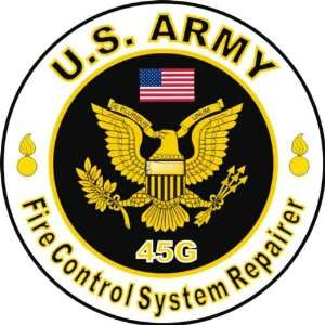 United States Army MOS 45G Fire Control System Repairer Decal Sticker