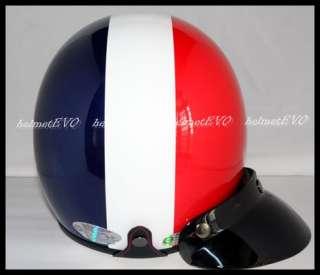 Vintage Open face Harley VESPA MOTORCYCLE helmet DOT