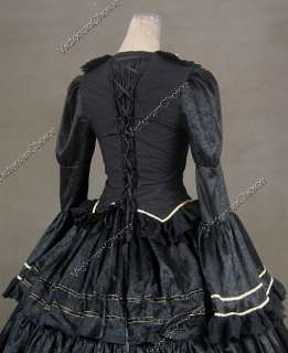 War Victorian Brocade and Cotton Ball Gown Dress Prom 188 M