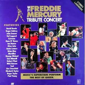 The Freddie Mercury Tribute Concert LASERDISC (Laserdisc)