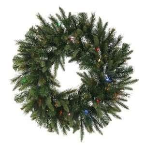 Cashmere Pine Christmas Wreath w/ 155T 50 Dura Lit Multi color Lights