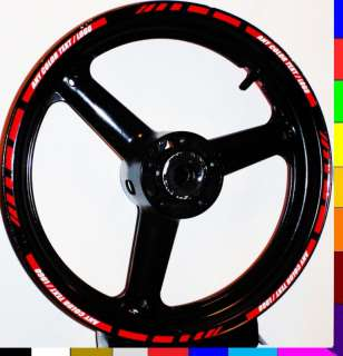 RIM STRIPE WHEEL DECAL TAPE STICKER ZX10R ZX12R NINJA