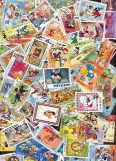 500 versch. Briefmarken Walt Disney mit 26 Blocks   Micky Mouse Donald
