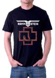 New Rammstein Logo Band Vintage Mens Black T Shirt