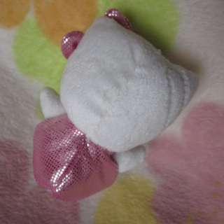 Adorable Soft Small HelloKitty Bow Plush Doll Toy Girls Kid Gift bag
