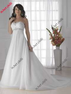 New A line Tulle Custom Size Wedding dresses bridesmaid Bridal gown 14