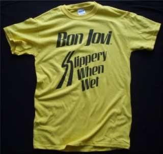 Bon Jovi t shirt vtg tour style 02b