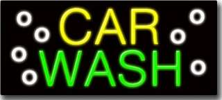 BRAND NEW CAR WASH 32x16 OUTDOOR NEON SIGN! 510 0328