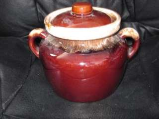 VTG EUC McCoy Brown Drip Bean Pot Cookie Junk Jar