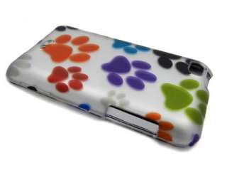 Rainbow Paw Print Hard Case Cover for Apple iPod Touch 4th 4g gen