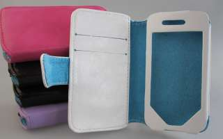 iPhone 4S, 4 4G Leather Color Book Wallet Case Cover Pouch
