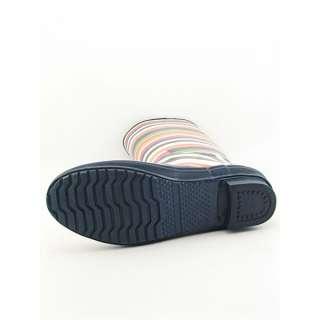 Coach Pammie Womens SZ 8 Blue Multi Boots Rain Shoes