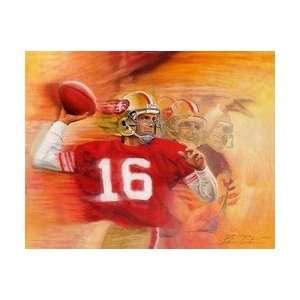 Joe Montana San Francisco 49ers Giclee on Canvas