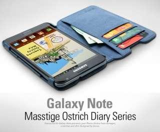 ZENUS Samsung Galaxy Note Case N7000 i9220 MASSTIGE OSTRICH DIARY TYPE