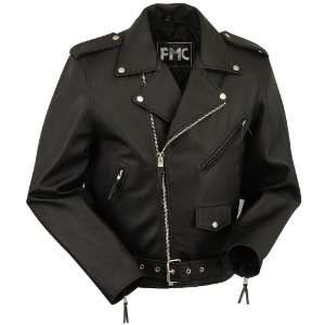 Size 50 Mens Classic Motorcycle Jacket with Zip Out Liner: Automotive