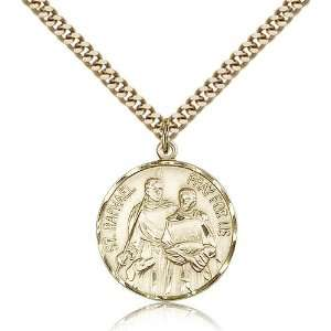 Gold Filled St. Saint Raphael the Archangel Medal Pendant