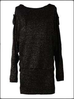 Sexy womens winter knit dress fashion batwing new mini dress S10611v