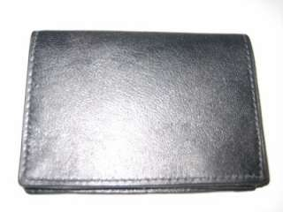 BLACK THIN LEATHER CREDIT CARD WALLET CASE ID HOLDER 70