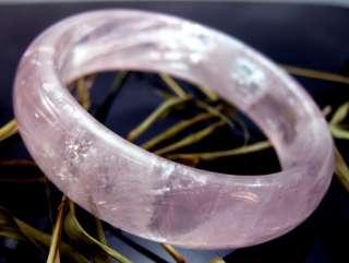 Pretty Rose Quartz Crystal Gemstone Bracelet Bangle reiki healing