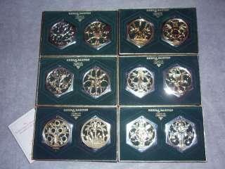 Reed Barton 12 Days Christmas Ornament Medallion Set 12 Silverplate