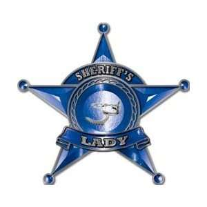 Law Enforcement 5 Point Star Badge Sheriffs Lady Decal   6