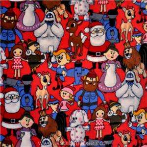 HALF YARD Rudolph the Red Nosed Reindeer Santa CHRISTMAS 60 Fleece