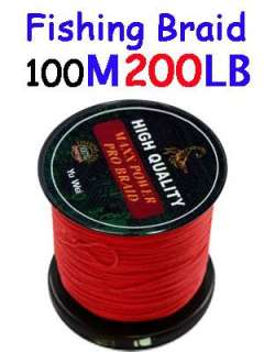 SUPER STRONG DYNEEMA FISHING LINE 100m 200lb Red fishing braid PE