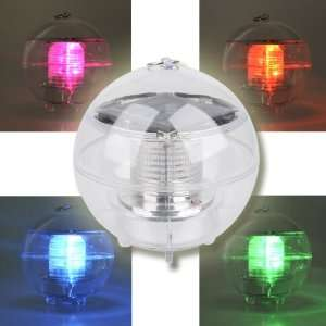 Solar Powered Multi colored LED Light Globe for Indoor and