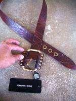 DOLCE & GABBANA New Mens Leather Belt EU 80