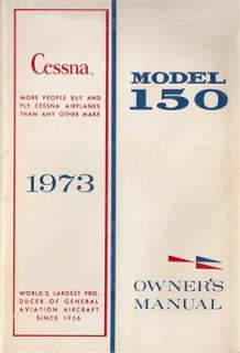 1973 Cessna 150 Owners Manual in PDF format on CdRom