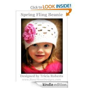 Crochet Pattern   Spring Fling Beanie   Easy Hat and Flower Pattern