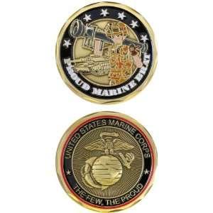 States Military US Marines Corps Eagle Globe Crest Proud Marine Brat
