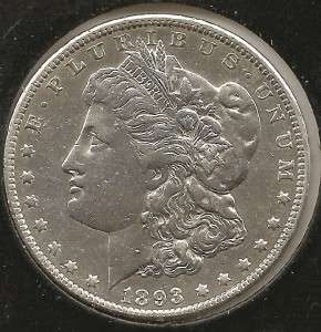 1893 O EXTREMELY FINE, cleaned Morgan Silver Dollar