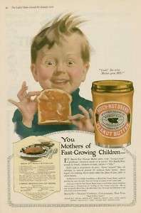 1919 Beech Nut Peanut butter excited boy advertising AD