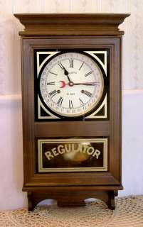 Vtg Montgomery Ward LeGant 31 Day Wind Calendar Regulator Wall Clock
