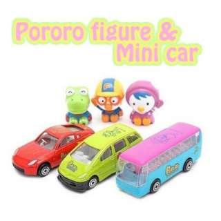 Pororo Charater Car 3 items die cast metal mini Car New