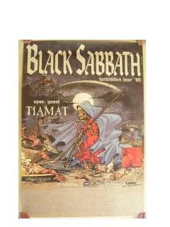 Black Sabbath German Concert Tour Poster Tony Iommi