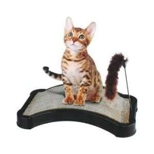 Quality Kitty Scratcher w/ Play Tail Toy and Cat Nip