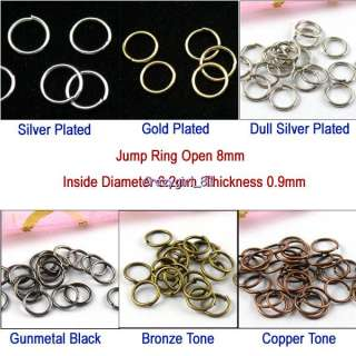 Jump Ring 8mm Open 19g Connector 80Pc R009 Free Shipping  