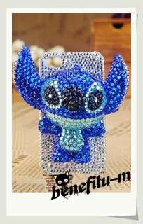 Iphone/Itouch 4 3D Teddy Bear/Stitch/Hello Kitty etc Pearl Crystal