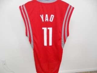 NEW Yao MING #11 Houston ROCKETS Medium M SWINGMAN Sewn Adidas REV30
