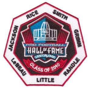 2010 Pro Football Hall of Fame Patch Smith Rice Randle